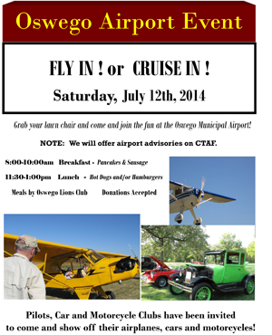 Fly-In-Cruise-In Flyer 7-12-14